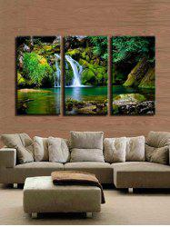 Waterfall River Pattern Unframed Split Paintings -