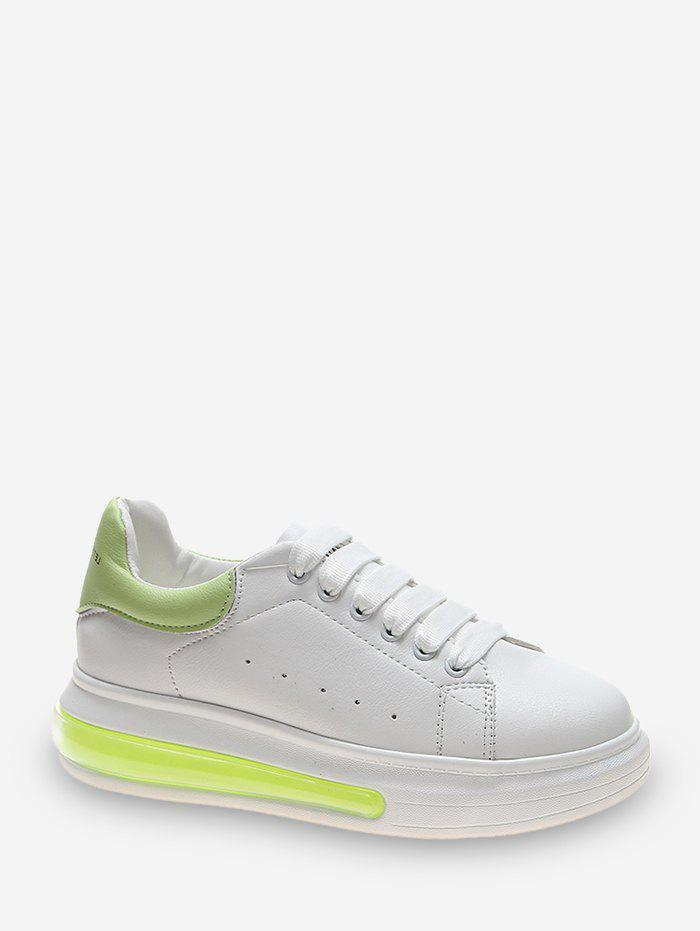 Affordable Two Tone PU Casual Skate Shoes