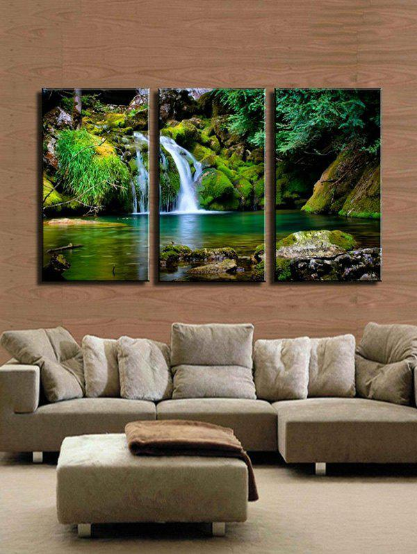 Latest Waterfall River Pattern Unframed Split Paintings
