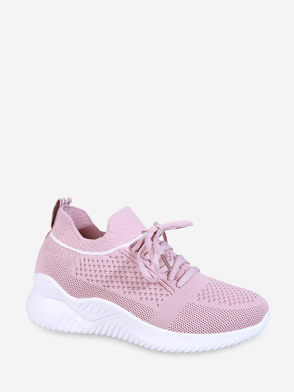 Unique Striped Breathable Mesh Sport Sneakers