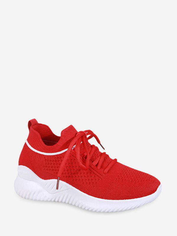 Online Striped Breathable Mesh Sport Sneakers