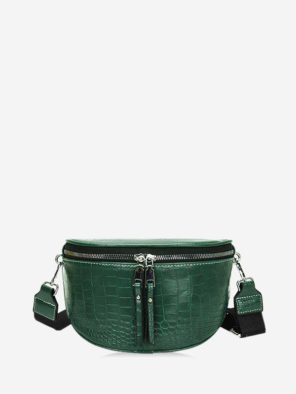 Discount Textured Solid Wide Strap Crossbody Bag