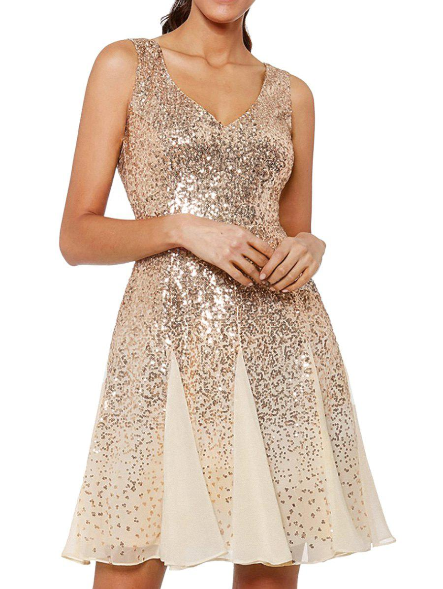 Outfits Sparkly Sequined Mesh Party Dress