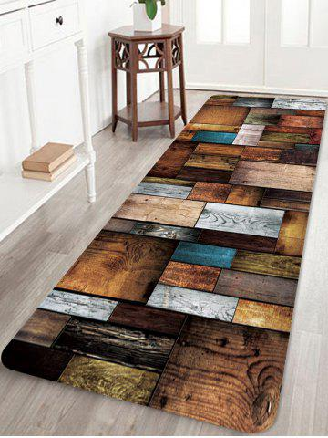 Colorful Wooden Board Pattern Water Absorption Floor Area Rug - DARK GOLDENROD - W24 X L71 INCH