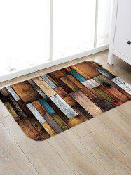 Colorful Wooden Board Pattern Water Absorption Floor Area Rug -