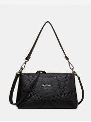 Geo PU Leather Crossbody Bag -