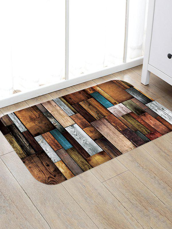 Store Colorful Wooden Board Pattern Water Absorption Floor Area Rug