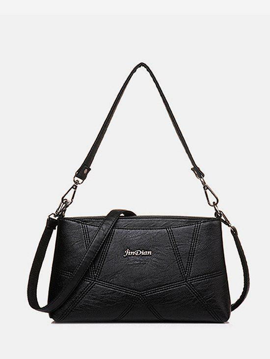 Cheap Geo PU Leather Crossbody Bag