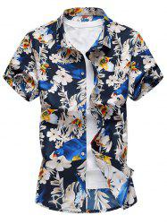 Butterfly Floral Button Down Shirt -