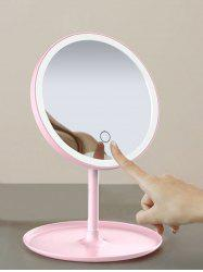 Portable Folded Round Makeup Mirror with LED Lights -
