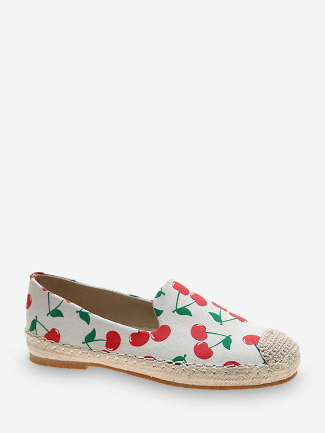 Hot Fruit Print Cloth Loafer Flat Shoes