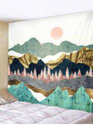 Sun and Mountains Print Tapestry Wall Hanging Art Decoration -