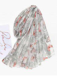 Butterfly Printed Long Beach Scarf -