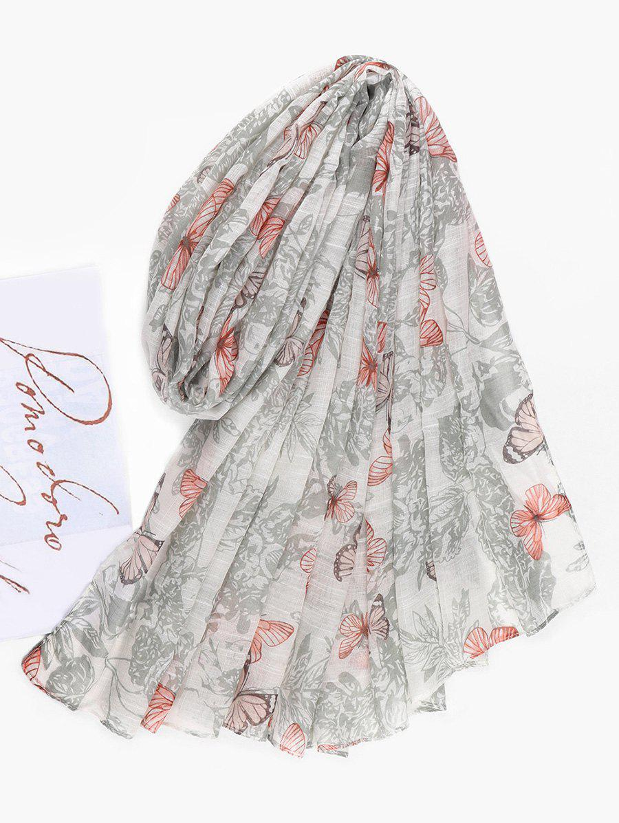 Sale Butterfly Printed Long Beach Scarf