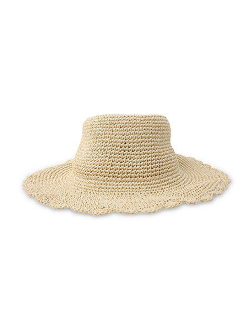 Shops Solid Sun-proof Rippled Edge Straw Hat