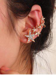 One-piece Rhinestone Stars Ear Cuff -
