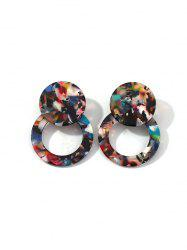 Geometric Mixed Color Stud Earrings -