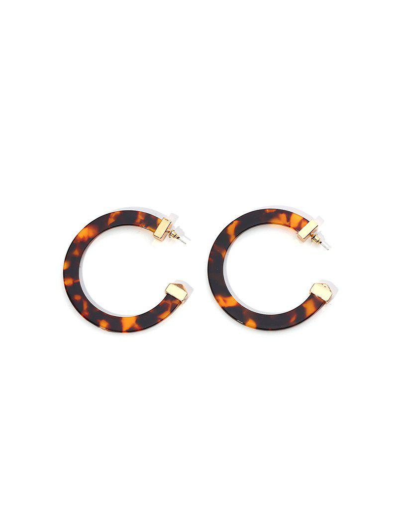 Buy C-shaped Marbling Exaggerated Stud Earrings