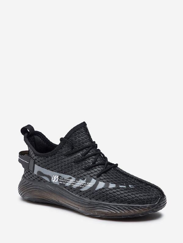Shop Fish Scale Textured Lace Up Running Sneakers