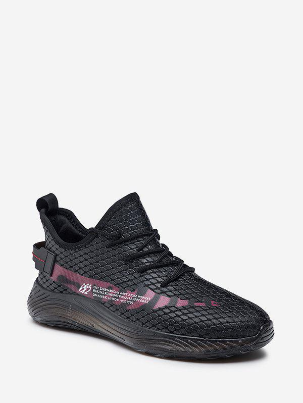 Store Fish Scale Textured Lace Up Running Sneakers