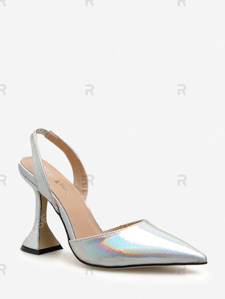 Latest Metallic Pointed Toe High Heel Pumps