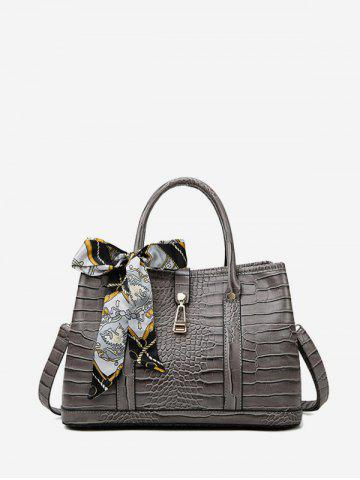 Animal Embossed Tote Bag #silk