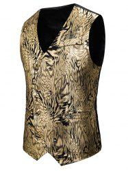 Gilding Animal Pattern Double Breasted Casual Vest -