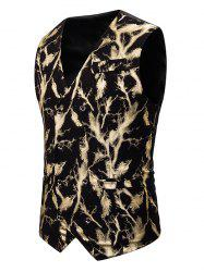 Gliding Lightning Print Double Breasted Casual Vest -