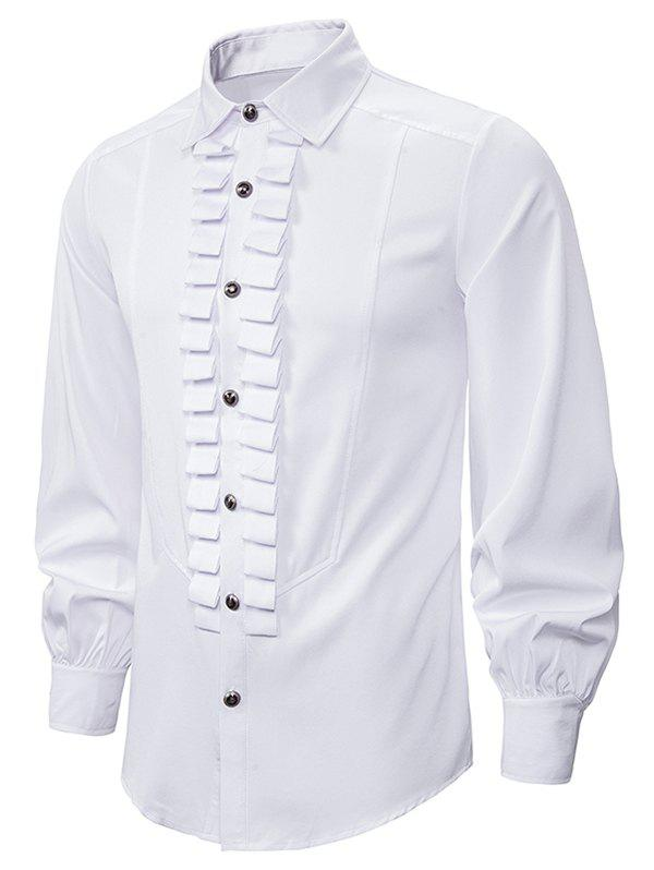 Buy Front Ruched Button Up Gothic Shirt