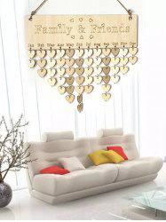 Family and Friend DIY Wooden Birthday Calendar Reminder Board -