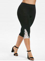 Plus Size Lace Insert Pants -