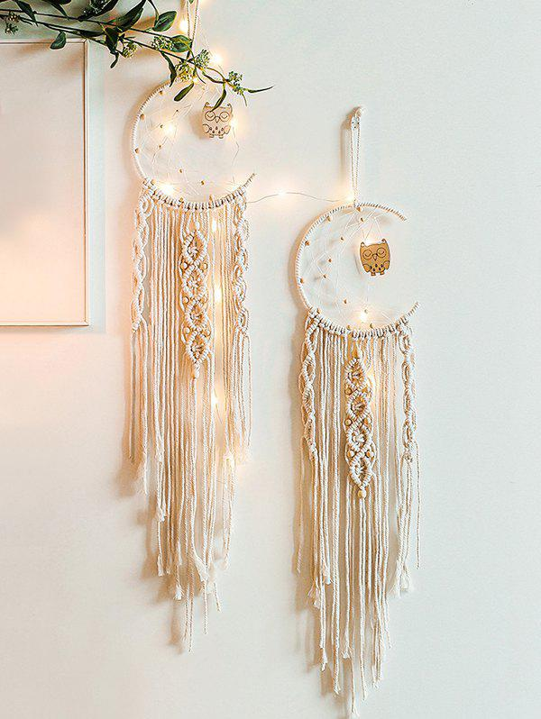 Bohemia Owl Pattern Hand-woven Dream Catcher Pendant фото