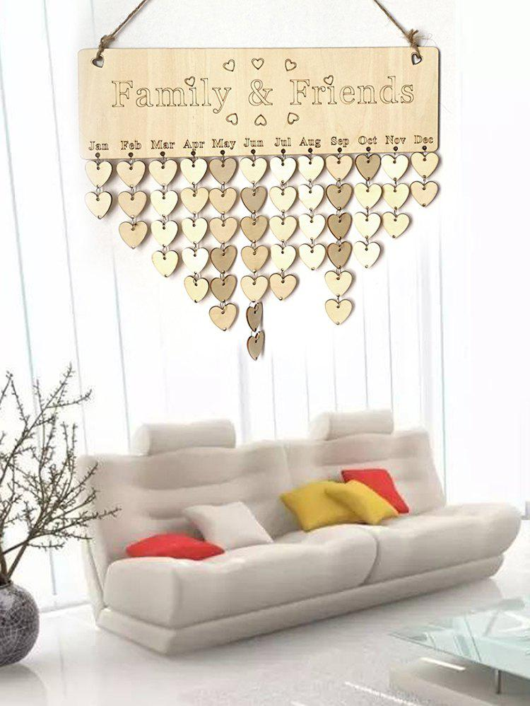 Latest Family and Friend DIY Wooden Birthday Calendar Reminder Board