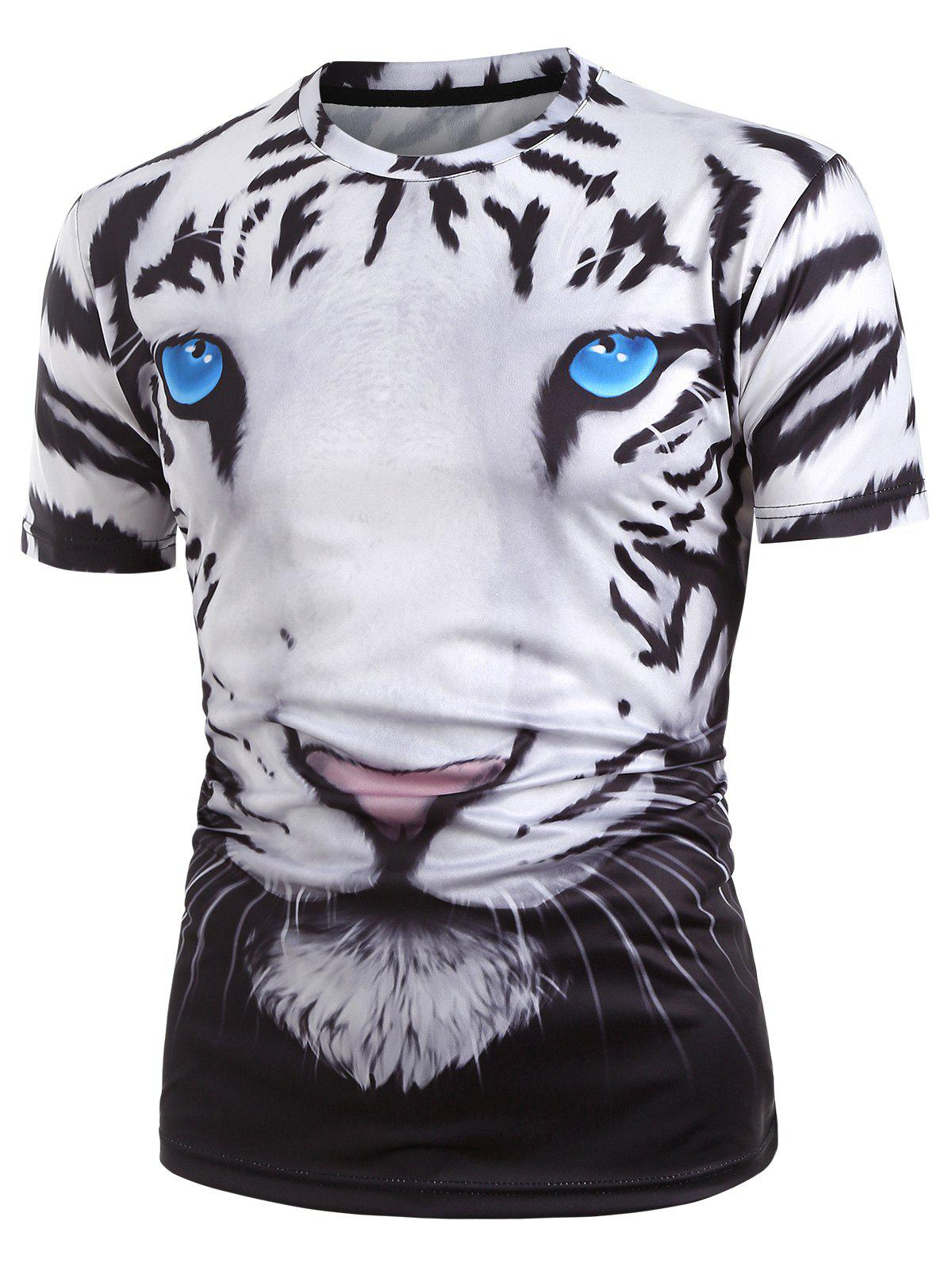 Best 3D Tiger Graphic Short Sleeve T Shirt