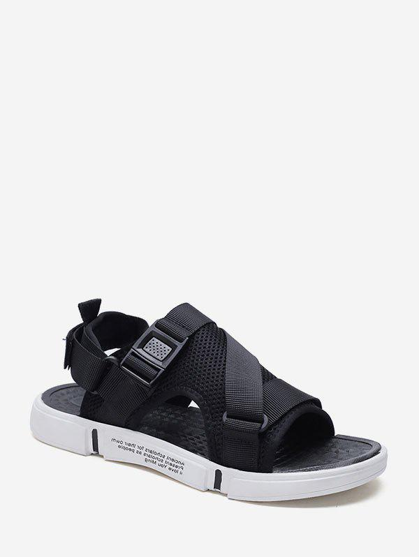 Chic Open Toe Buckled Strap Casual Shoes