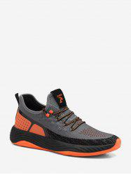 Color-blocking Mesh Outdoor Running Sneakers -