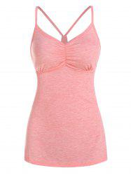 Ruched Heathered Cami Top -