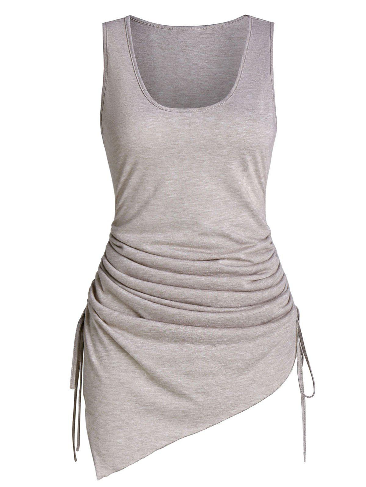 Chic Asymmetric Cinched Tank Top