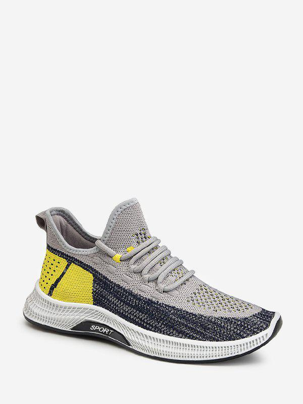 Cheap Color-blocking Breathable Mesh Sport Sneakers