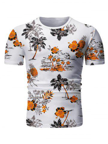 Palm Tree Floral Print Casual T-shirt