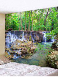 Forest Waterfall Stream Print Tapestry Wall Hanging Art Decor -