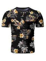 Palm Tree Floral Print Casual T-shirt -