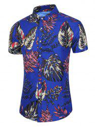 Tropical Leaf Print Beach Casual Shirt -