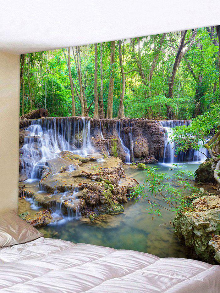 Fancy Forest Waterfall Stream Print Tapestry Wall Hanging Art Decor