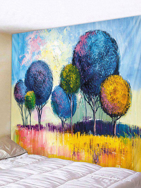 Unique Colorful Trees Print Tapestry Wall Hanging Art Decoration