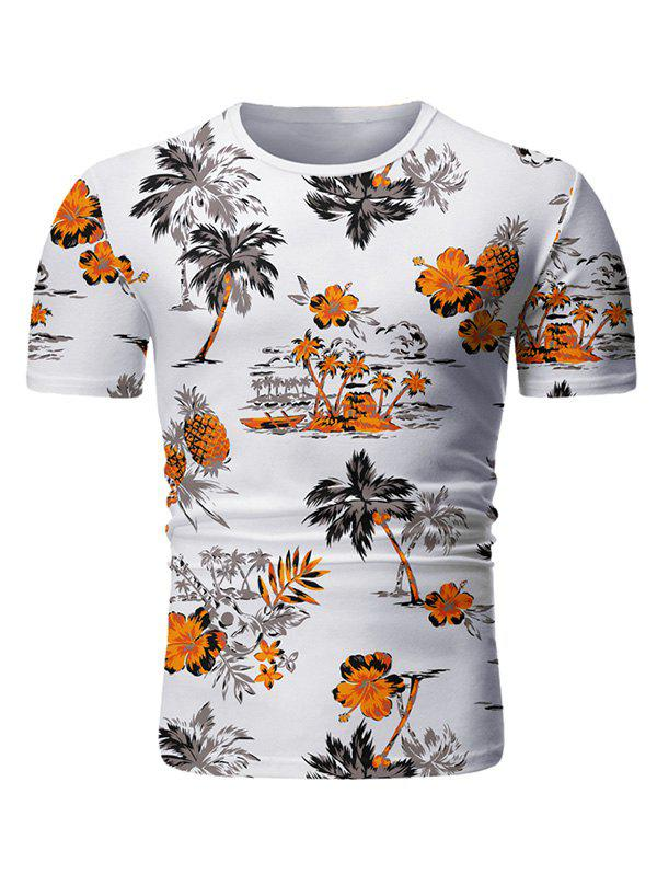 Latest Palm Tree Floral Print Casual T-shirt