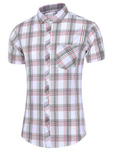 Plaid Short Sleeve Pocket Shirt