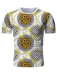 Baroque Print Short Sleeve T-shirt -