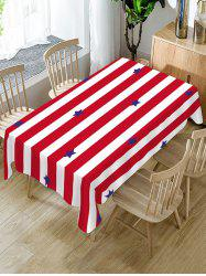 Striped and Star Print Table Cloth -