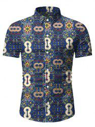 Abstract Print Short Sleeve Shirt -
